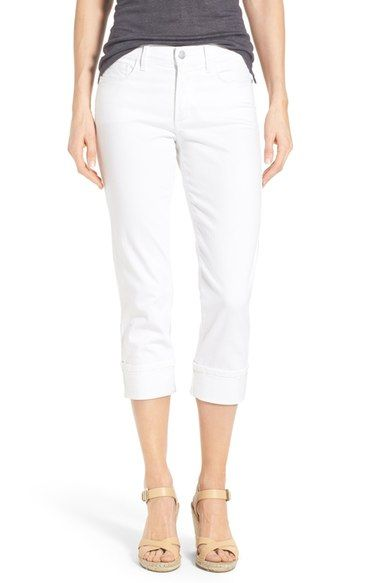 Want - NYDJ 'Dayla' Colored Wide Cuff Capri Jeans (Regular & Petite) available at #Nordstrom