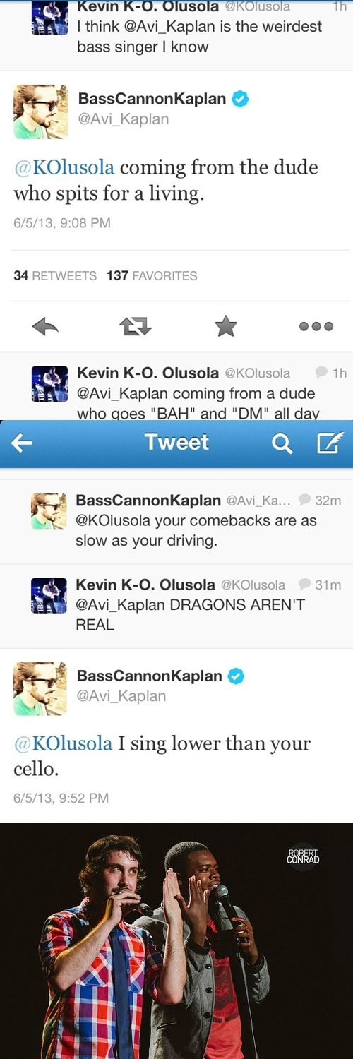 Meat & Potatoes sibling rivalry… Makes my day brighter! Avi Kaplan & Kevin Olusola give me so much life...