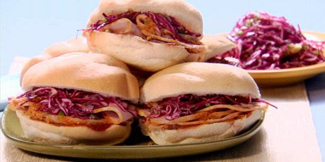 Peameal Sandwiches with Coleslaw Recipes | Food Network Canada