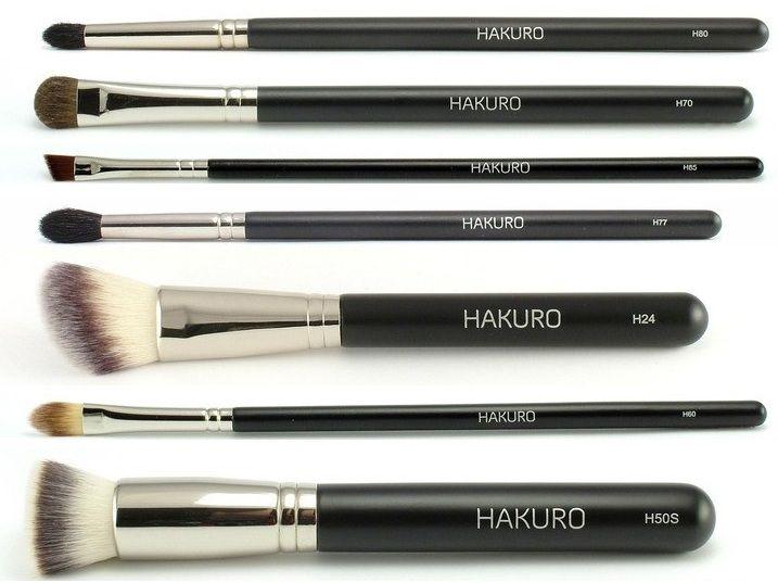 Hakuro Zestaw 7 Profesjonalnych Pędzli do Makijażu