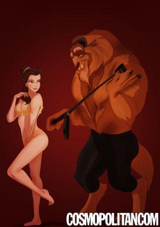 Le coppie Disney interpretano 50 sfumature Belle e la sua Bestia