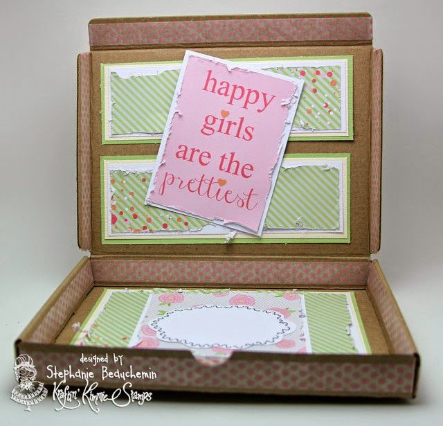Happy girls are the prettiest - kraft altered box