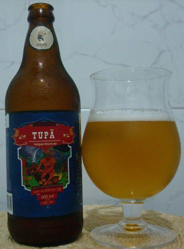 Cerveja Tupã, estilo Belgian Blond Ale, produzida por MoocaBier, Brasil. 5% ABV de álcool.