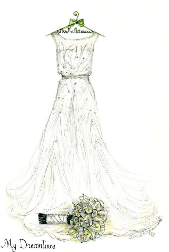 Buy Dress wedding on hanger drawing photo picture trends