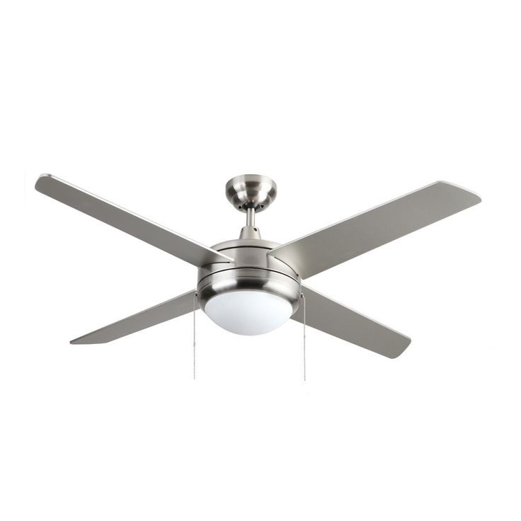 Royal Pacific Europa 50 In Brushed Nickel Downrod Mount Indoor Ceiling Fan  Withu2026