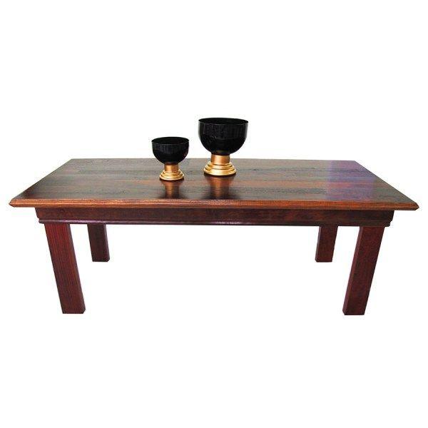 MS04 mesa de jantar rústica madeira de demolição peroba rosa bela rústica móveis de madeira itu