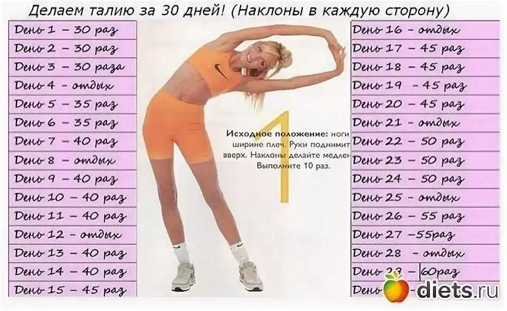Схема Похудения 30 Дней. Программа похудения на 30 дней: фитнес и правильная диета