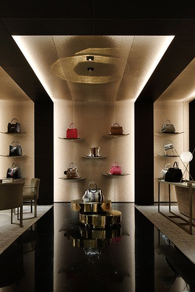 SECTIONS DIVISION by materials / LIGHTING FENDI Avenue Montaigne, Paris | WORKS - CURIOSITY - キュリオシティ -