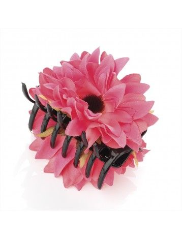 PINK FABRIC FLOWER JAW CLIP - HAIR ACCESSORIES - Jaw Clamps - Hair Accessories