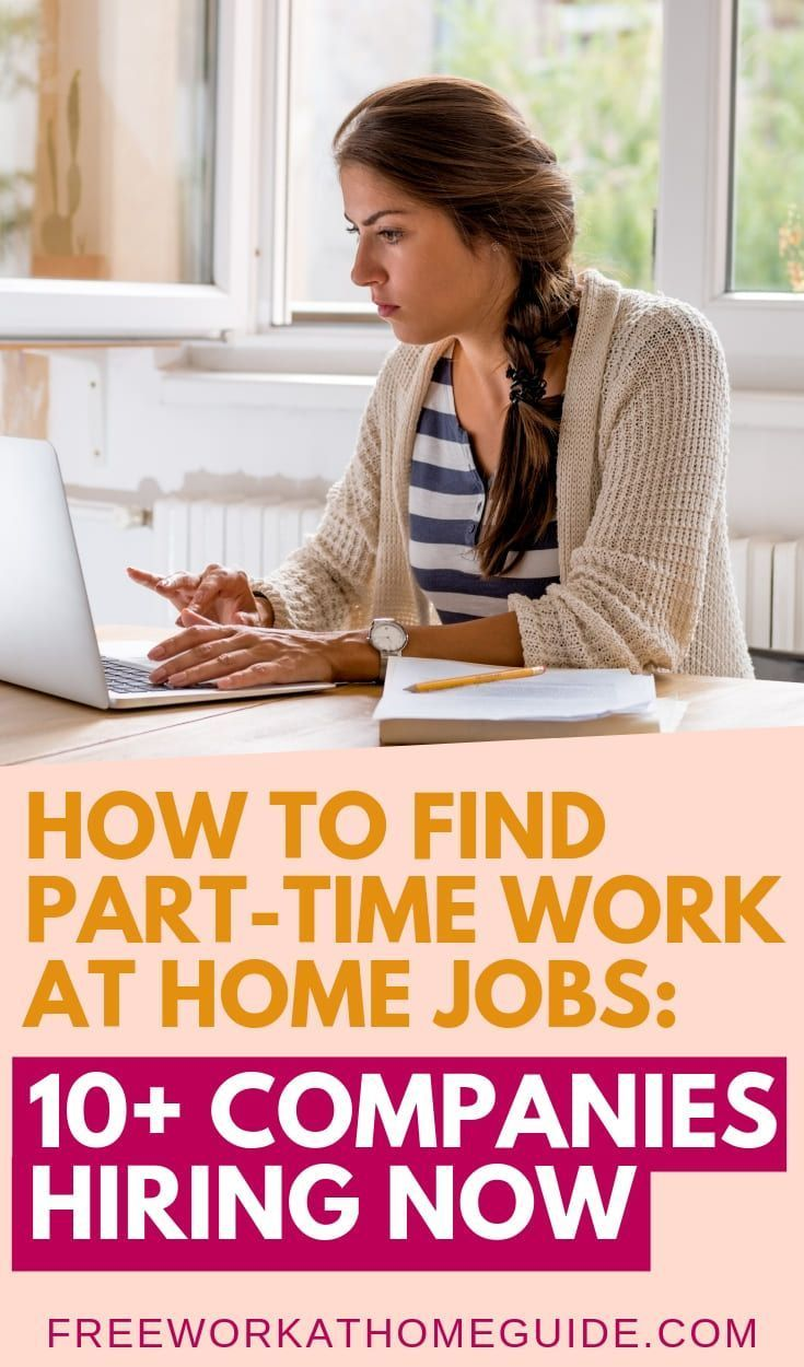 Best Part Time Work At Home Jobs 10 Companies Hiring Apply