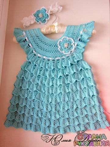 платье для девочки - Платье.Сарафан - Вязание для детей - Рукоделие