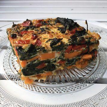 Zoete aardappel, spinazie frittata - De website van zonderfratsen!