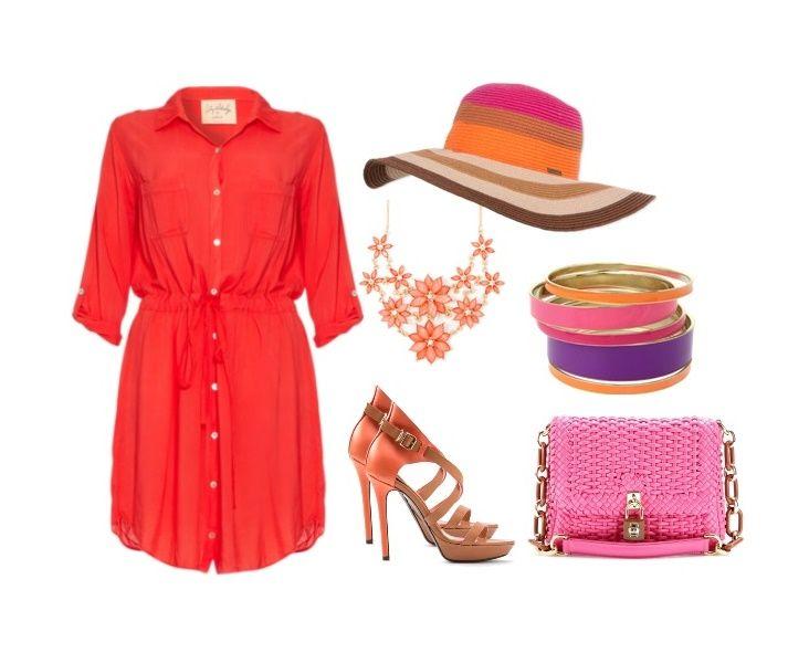 Набор одежды и аксессуаров для стильного летнего гардероба! Красивая одежда и наряды для пляжа и отдыха!