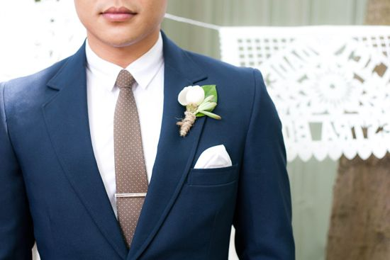 Vintage Mexican Wedding Inspiration  Men's suit navy