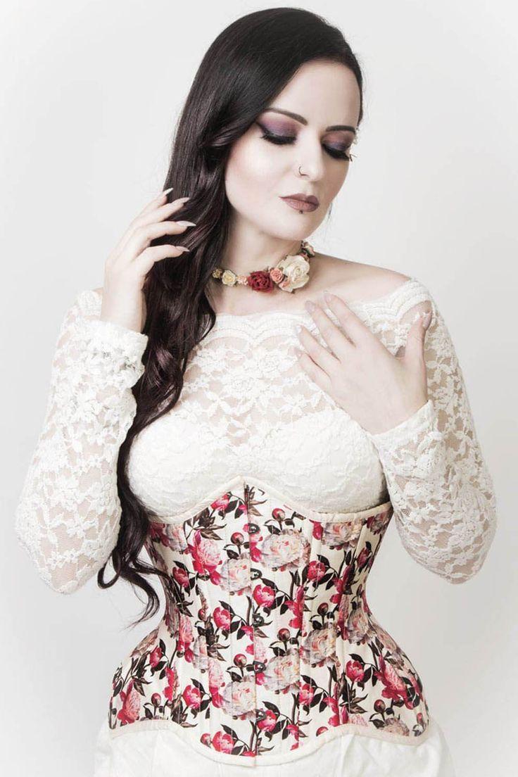 Deni victorian inspired waist training curvy corset with