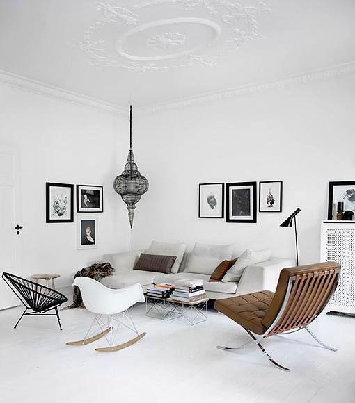 Dit geweldige design interieur combineert Scandinavisch design met Marokkaanse woonaccessoires. #design #interieur #scandinavisch