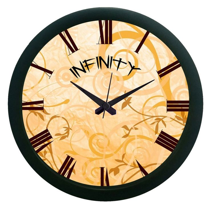 Infinity Brown Wall Clock (With Glass)