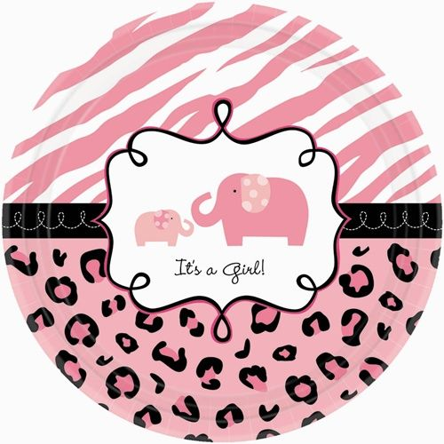 Pink Elephant Safari Theme for girl baby shower. i love this theme!!