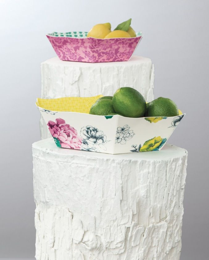 Decorate your table with citrus and bold florals.