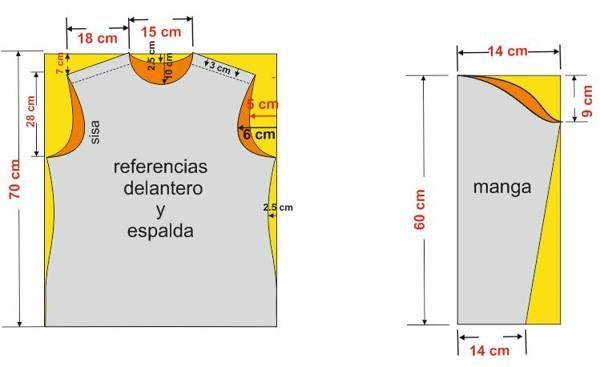 Moldes para camisas de niños - Imagui