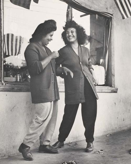 """""""The photo is called """"Two Women"""". It was taken in Los Angeles, California in 1946. Pachucas."""""""