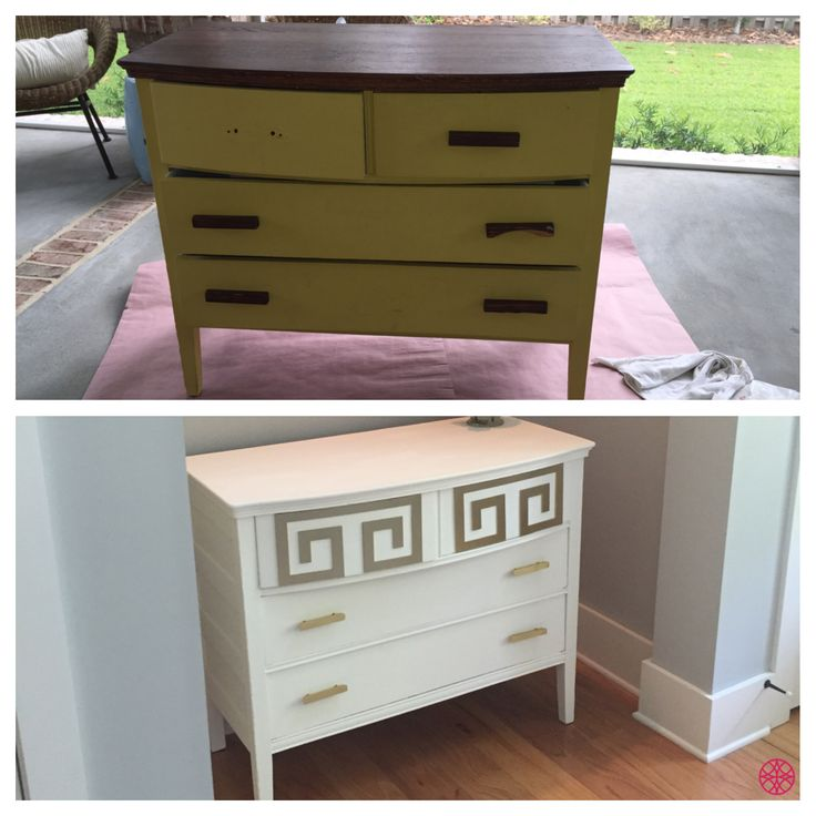 Add Some Ou0027verlays And Paint To Make Old Furniture Look Brand New! This