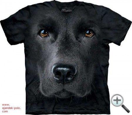 FEKETE LABRADOR kutya portré gyermek és felnőtt The Mountain póló.