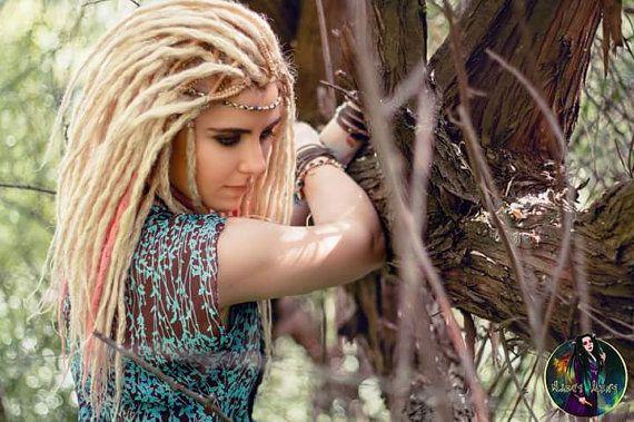 Rose et blond crochet dreads DE terminé double de dreads synthétiques