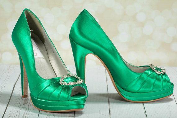 Smaragd grün Hochzeit Schuhe grüne irische Hochzeit von Parisxox