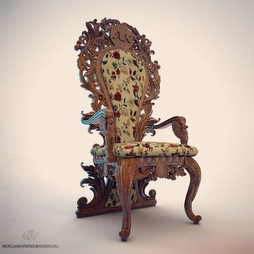 carved chair | 3D Print Model