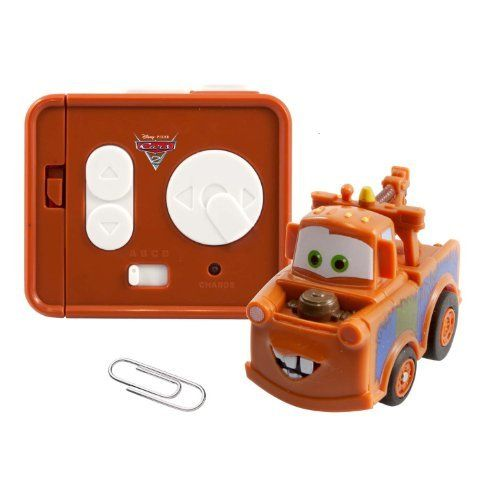 Air Hogs/Cars 2 - Micro RC - Mater by Cars II. $17.47. Wheelie action. Included are micro RC, 1 Controller and Charger, instruction sheet. Vehicle charges from controller. 4 Character Assortment. Full function RC. From the Manufacturer                Your favorite Cars 2 characters, now available in micro sized RC. They're the smallest Cars 2 RC's available. Hit turbo speeds as you race through your home with awesome wheelie action. These full function miniature RC...