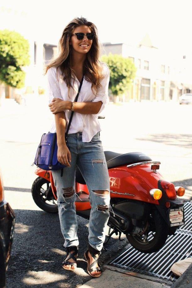 Boyfriend Jeans styled by Street-Style.