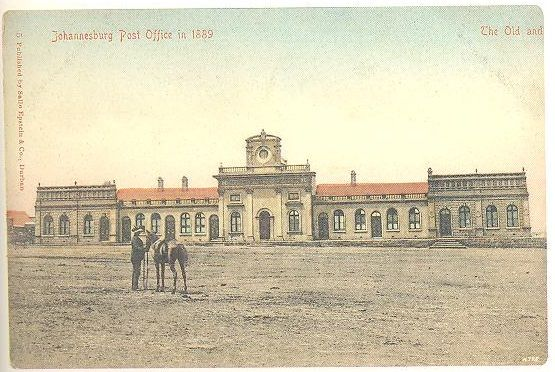 Old post office in 1889 with Market square in front.