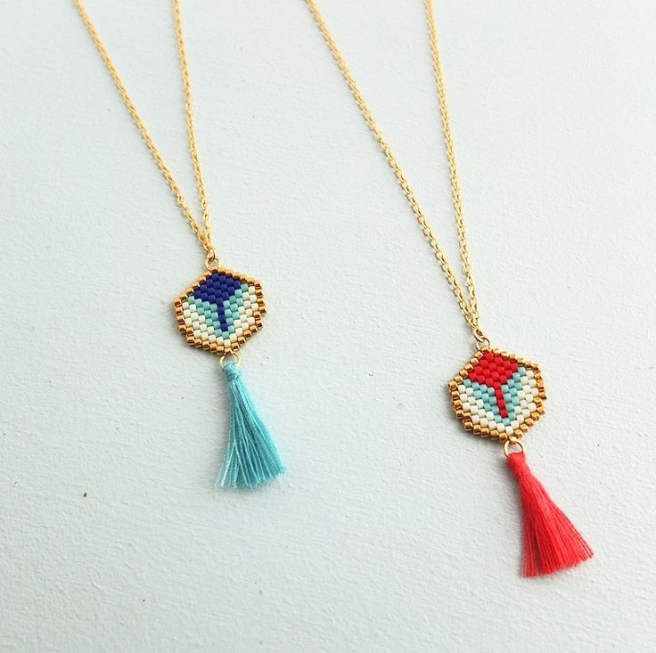Collier Paon via My-French-Touch. Click on the image to see more!