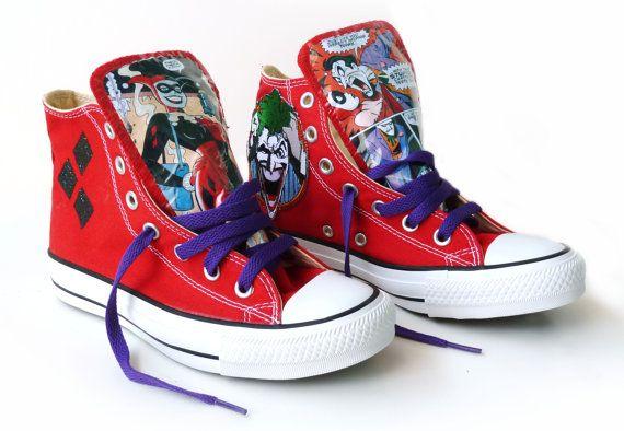 Joker and Harley Quinn Converse Mad Love