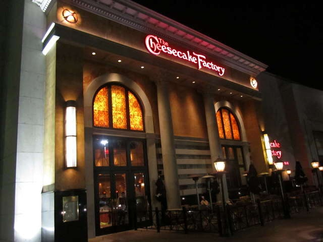 Cheesecake Factory, Orlando...I had the Reese's Peanut Butter Chocolate Cake cheesecake...sweetness overload!!!