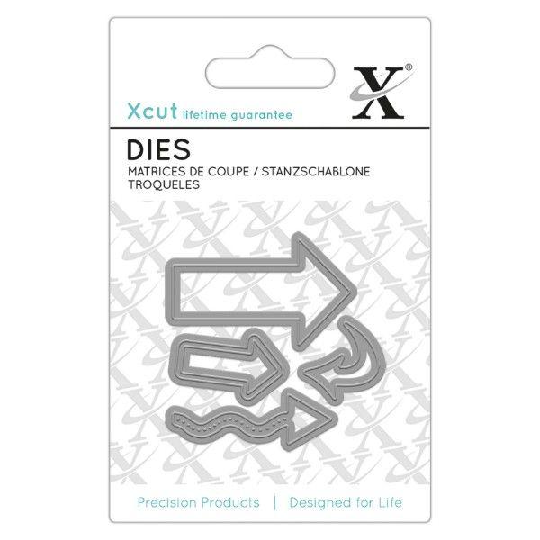 Šipky - vyřezávací kovové šablony Xcut (4ks)   Davona