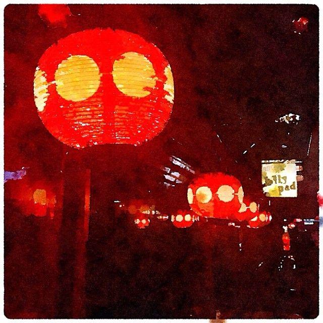 .@iasakuma | 吉祥寺ハモニカ横丁の赤提灯。Painted in #Waterlogue #吉祥寺 #ハモニカ横丁 | Webstagram
