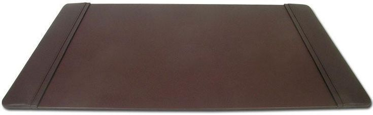 Leather 34x20 Desk Pad with Side Rails P3401 by Decasso