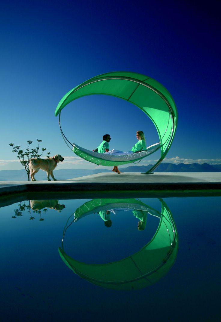 Wave Luxury Garden Swing Hammock, Designed By Erik Nyberg And Gustav Strom  For Royal Botania