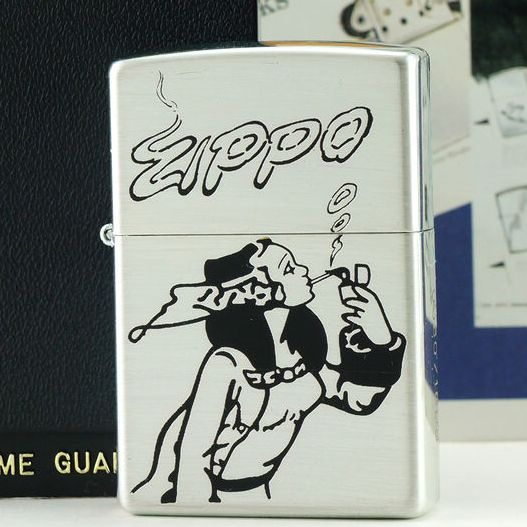 1996 Plated Silver Zippo Windy Girls Lighter Limited Edition