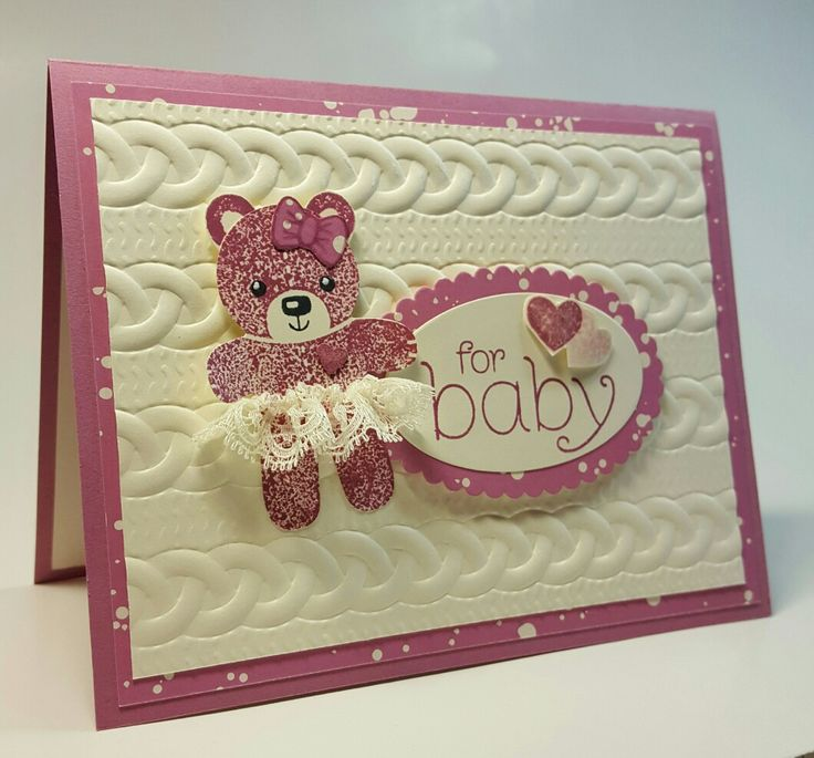 Stampin' Up! Baby Card featuring #CookieCutter punch.