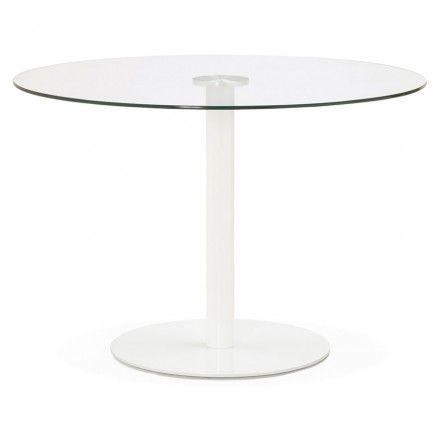 Best 25 table ronde en verre ideas on pinterest table for Table ronde ou rectangulaire pour petit espace