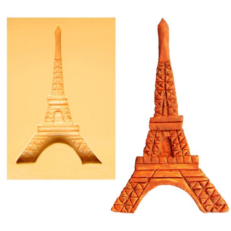 Molde de Silicone para Biscuit Casa da Arte - Modelo: Torre Eiffel 1271 - CasaDaArte