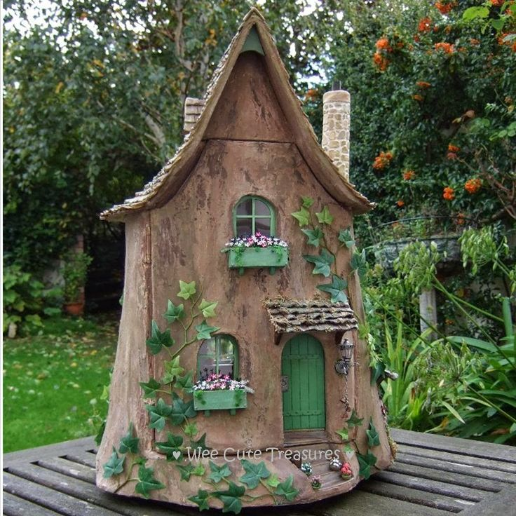 It Is A Fairy Tree Stump House In 1 12 Scale But Fits Into