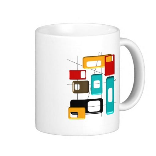 Mid Century Modern Geometric Design Gifts Coffee Mugs