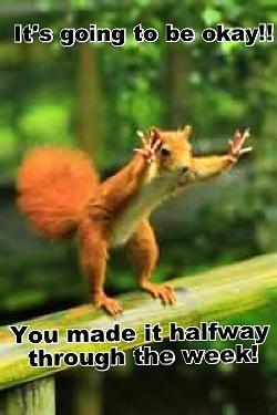 It's going to be OK...  You made it halfway through the week!