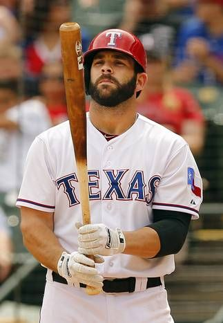 Texas Rangers first baseman Mitch Moreland (18) batted in the lineup and played first base as he returned this week to face the Kansas City Royals at Globe Life Park in Arlington, Texas, Thursday, May 14, 2015. (Tom Fox/The Dallas Morning News)