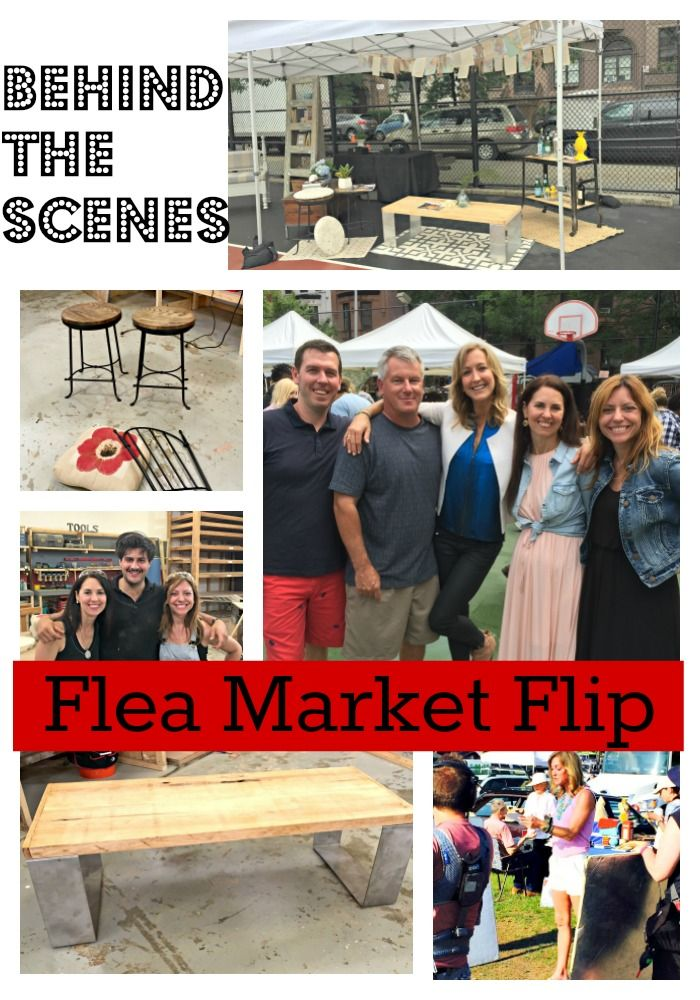 This is my final installment of my behind-the-scenes look at the TV show Flea Market Flip, hosted by Lara Spencer.  I competed along with my good friend Melissa, against our husbands John and Rich …