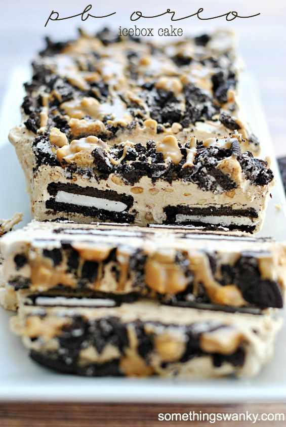 Peanut Butter Oreo Icebox Cake - Yummy and easy 3 ingredient dessert